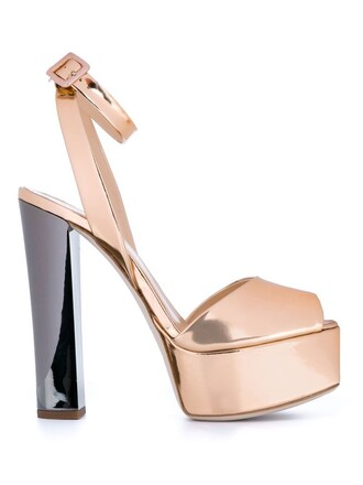 sandals platform sandals metallic shoes