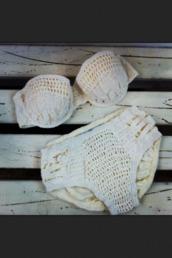 swimwear,strapless,crochet,white,bikini,bandeau bikini