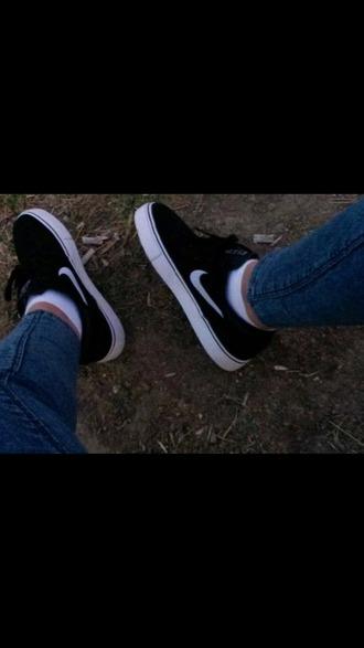 shoes black shoes nike