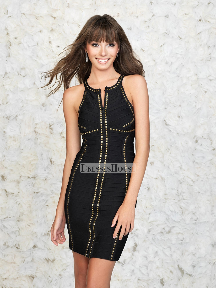 Short mermaid empire waist beaded with a front zip prom dress pd11818 sale online