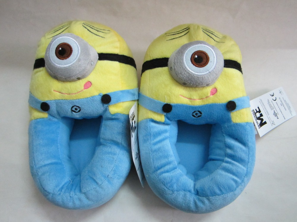 Minion Stuffed Despicable Me Slippers Women Men\'s House Home Shoes ...