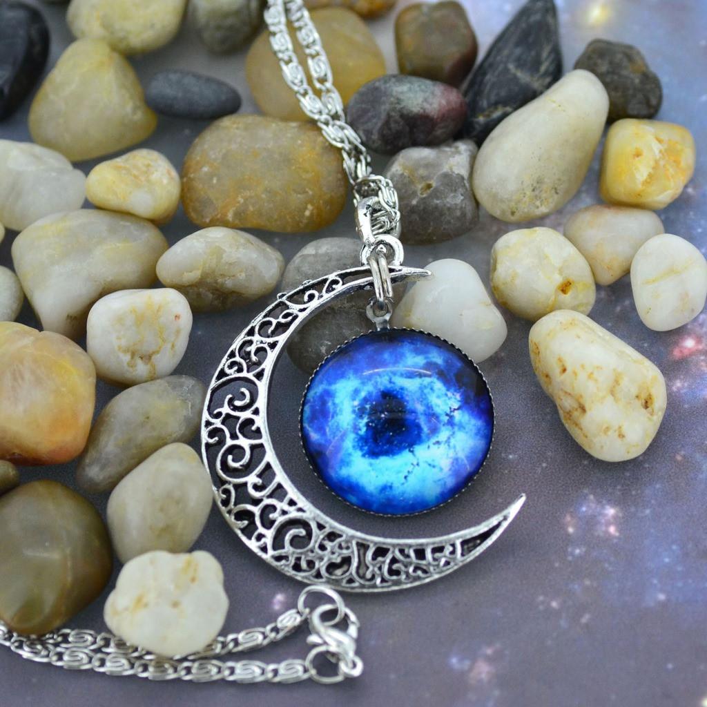 Fashion star gemstone necklace qz1027fi