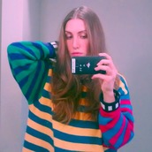 sweater,stripes,multicolor,colorblock,hipster,artsy,red,yellow,green,blue,stripedsweater,rainbow,colorful