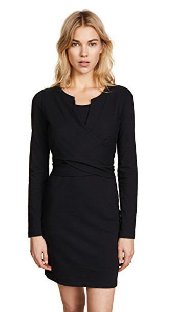 T by Alexander Wang dress long sleeve dress long black
