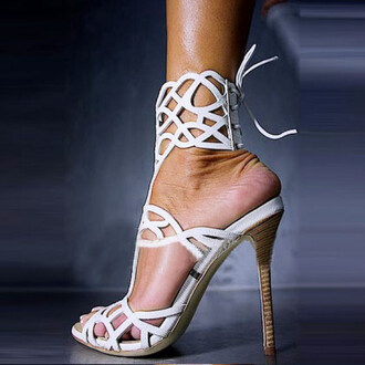 shoes white heels white heels cool cute wow amazing pretty love lovely fashion style stylish fabulous gorgeous sexy sexy shoes trendy hot open toes high heels girl girly