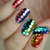 Manicurity: The Digit-al Dozen Does it Again: Bling! with A Rainbow of Glitters - Hand-Placed Glitter Nail Art