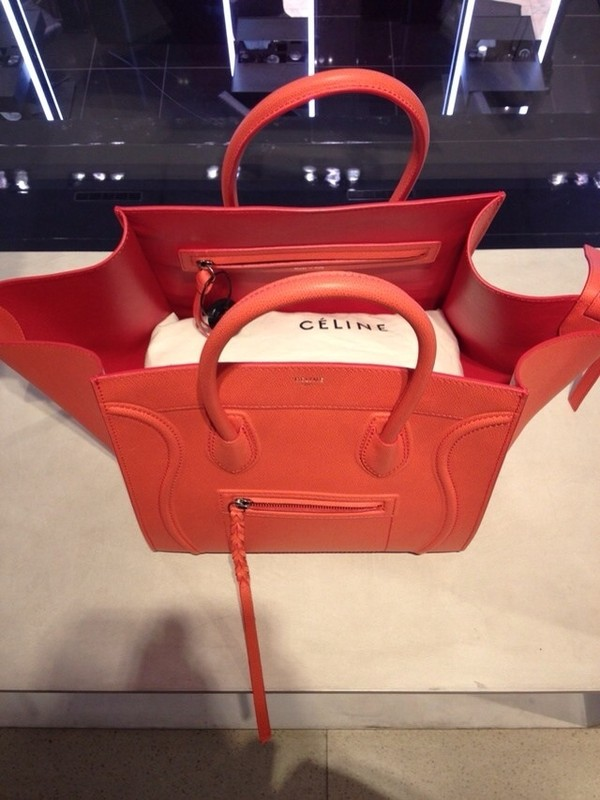 celine black leather tote - celine red leather luggage