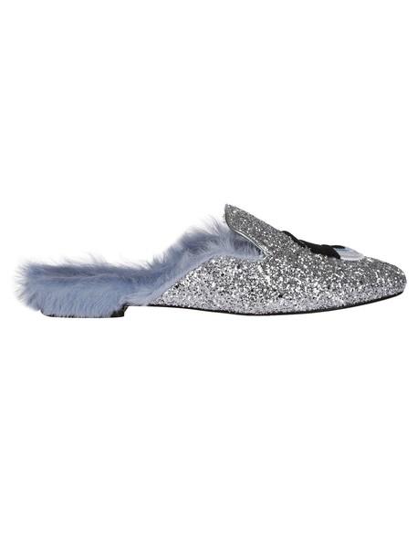 Chiara Ferragni slippers glitter shoes