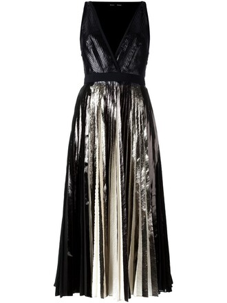 dress pleated dress pleated metallic black