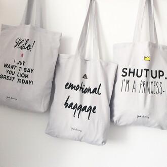 bag yeah bunny shopping bag princess shut up im a princes