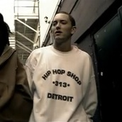 sweater,eminem,313,detroit,hip hop,howcome,white sweater,crewneck sweater