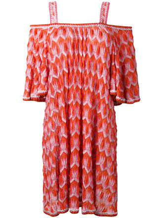 dress women knit yellow orange