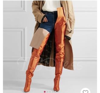 shoes burnt orange heels