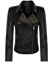 boho,chic,coat,hippie,jacket,leather jacket,biker jacket,punk,studded,joan,moto