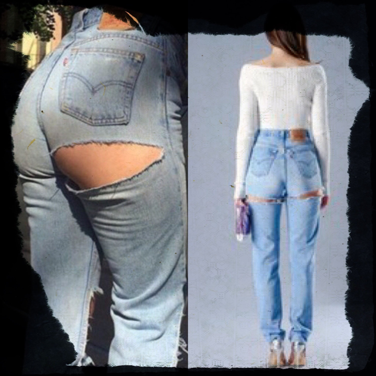 high waist LEVI's distressed -message for sizing! WLnm7Xtw