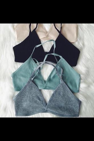 underwear white bralette cotton bra