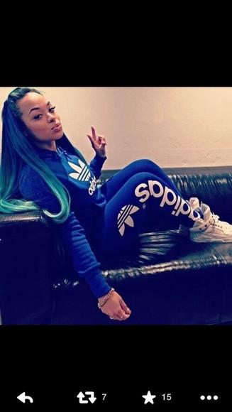 jumpsuit blue adidas jumpsuit