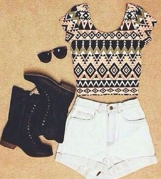 t-shirt aztec print aztec tshirt. shirt aztec top beauty indie indie boho indiestyle shoes shorts