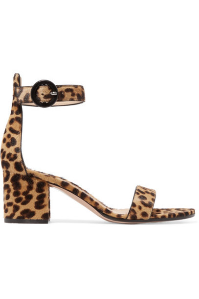 Gianvito Rossi hair sandals print leopard print shoes