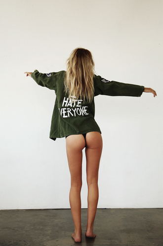 military army green jacket quote on it army green jacket sexy