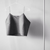 shirt,grey,tank top,crop tops,cute,top,short top,short tank top,smiple,beautiful,minimalist,grey top