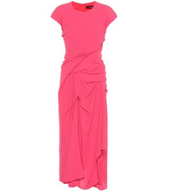 SIES MARJAN dress draped wool pink