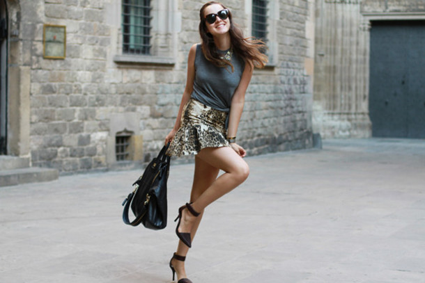 style scrapbook skirt t-shirt shoes bag jewels sunglasses
