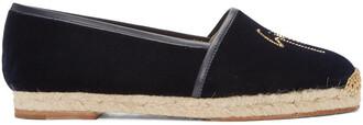 espadrilles navy velvet shoes