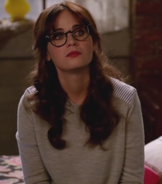 new girl sweater zooey deschanel