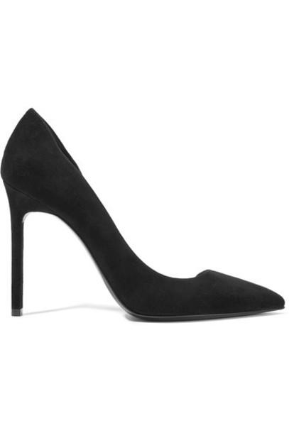 Saint Laurent suede pumps pumps suede black shoes