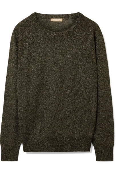 Michael Kors Collection sweater knitted sweater metallic black