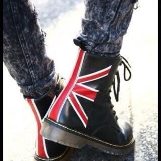 shoes english flag