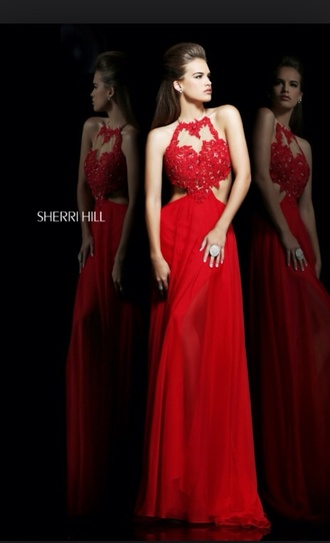 sherri hill prom dress red dress dress
