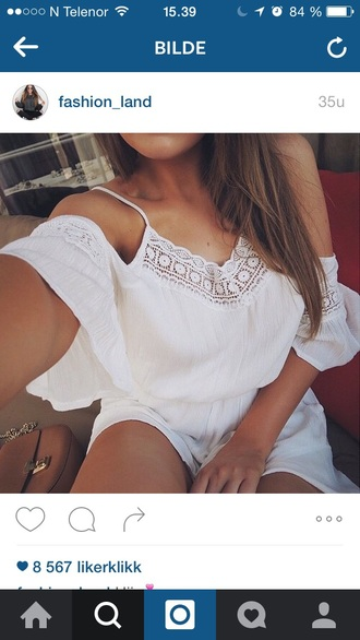 dress romper jumpsuit white white dress girly girly dress girl girly wishlist outfit summer outfits outfit idea cute outfits pretty