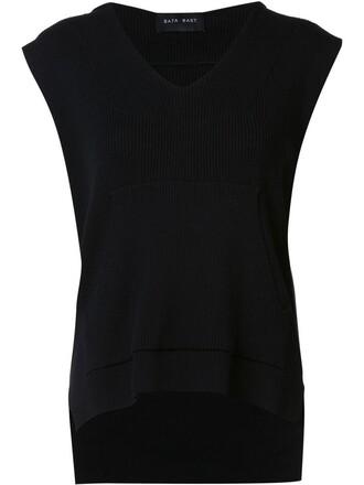 hoodie sleeveless women cotton black sweater