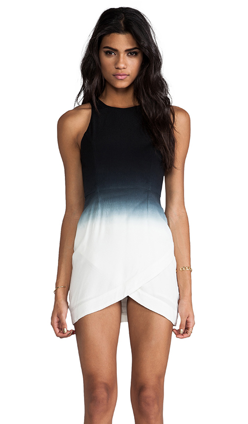Bless'ed are the meek gradient dress in black/white from revolveclothing.com