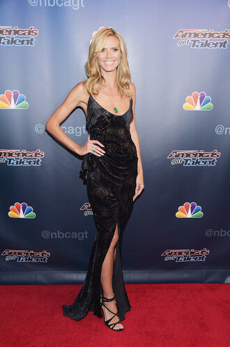 heidi klum maxi dress black zac posen