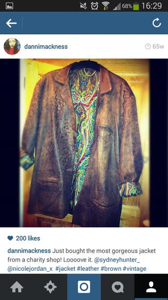 jacket leather vintage brown leather jacket