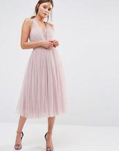 lauren conrad,blogger,dress,pink dress,nude dress,v neck dress,sandals,pink