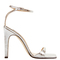 Sr1 silver laminated leather sandals