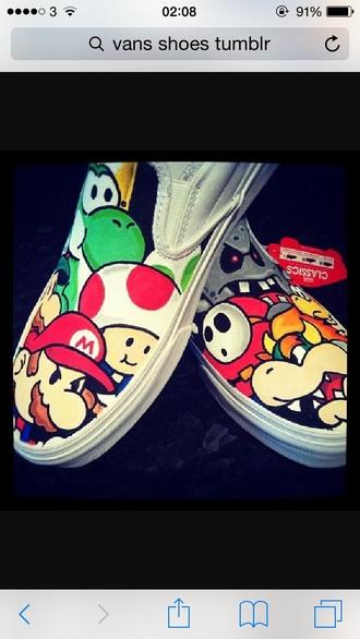 shoes vans mario bros