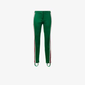 pants track pants women cotton green