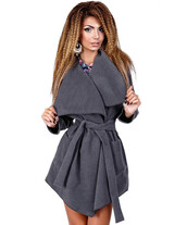coat,grey coat,casual,cashmere in style,wrap blouse