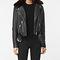 Allsaints us: womens rigby leather biker jacket (black)
