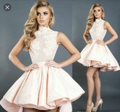dress,pink,high low,babydoll,baby pink
