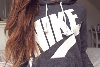 sweater nike shirt pullover sweatshirt grey whitr brown hairs jacket girl crewneck nike sweater nike sweatshirt
