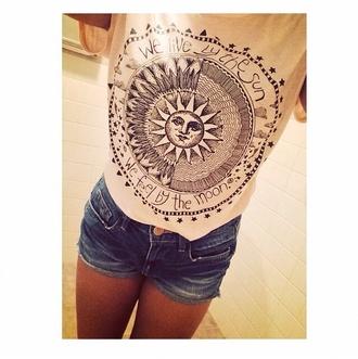 blouse moon sun design stars hipster help me find