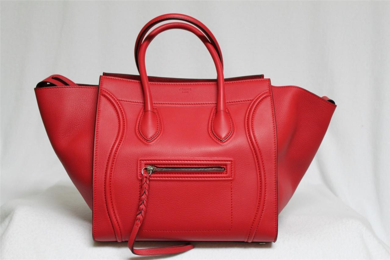 Celine Red Smooth Leather Phantom Bag - Celine - Brands | Portero Luxury