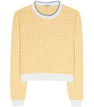 cardigan cotton yellow sweater