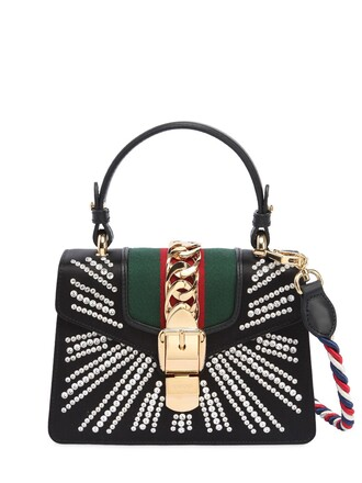mini embellished bag leather bag leather black